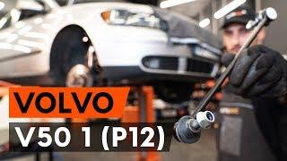 Hur och när byter man Krängningshämmarstag bak och fram VOLVO V50 (MW): videohandledning
