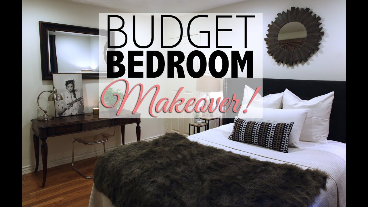 Budget bedroom makeover home decor youtube How to decorate your bedroom cheap