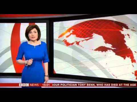 Jane Hill In a Figure Hugging Dress BBC News 14 3 14