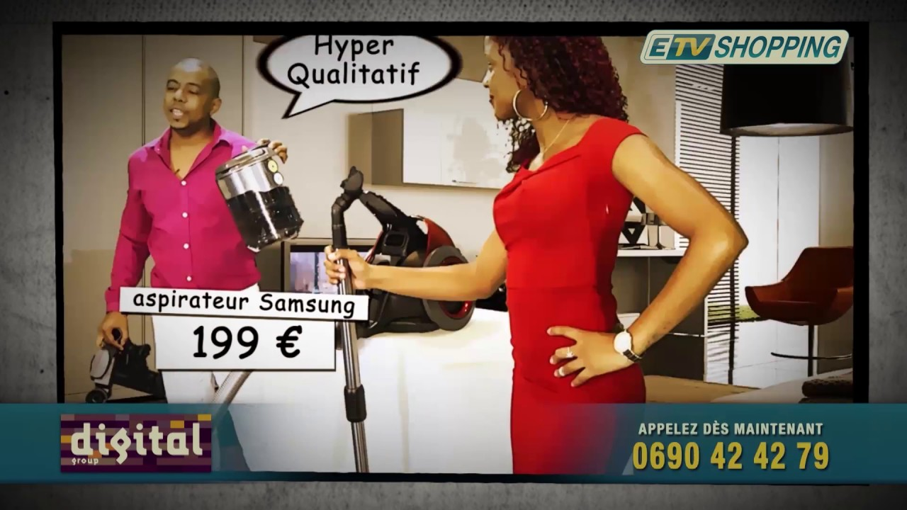 TELESHOPPING ETV : Aspirateur Samsung Cyclone Force