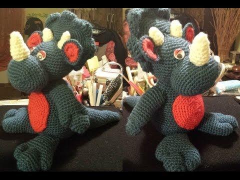 Amigurumi Tutorial Uncinetto : Dinosauro Amigurumi tutorial uncinetto crochet Parte 1 di ...