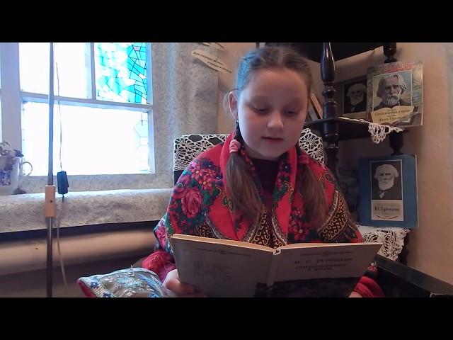 Изображение предпросмотра прочтения – АлександраБурдова читает произведение «Воробей» И.С.Тургенева
