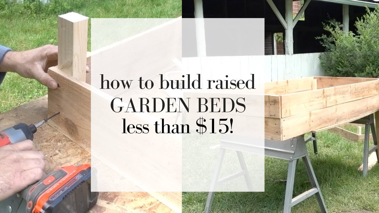 How To Build Cedar Raised Beds | Gardening For Beginners - YouTube