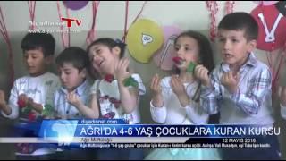 Ağrı'da 4-6 yaş grubu çocuklar için Kuran kursu 2017 Video