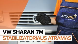 Kaip pakeisti Amortizatoriaus atrama VW SHARAN (7M8, 7M9, 7M6) - internetinis nemokamas vaizdo