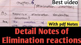 E2 reaction || Elimination reactions || Organic chemistry reactions || MSc Chemistry