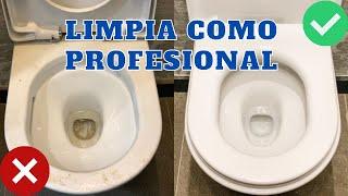 LIMPIEZA PROFESIONAL - COMO LIMPIAR EL INODORO RAPIDO, FACIL Y EFICIENTE!