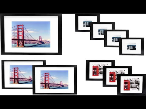 Vsadey 10 Pack Picture Frames Collage Wooden Photo Frames Wall Gallery Kit For Wall And Home