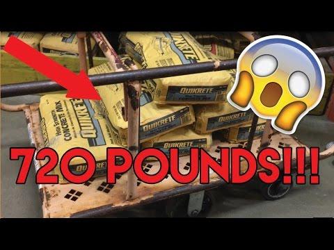 DIY BACKYARD CEMENT HALFPIPE! - YouTube