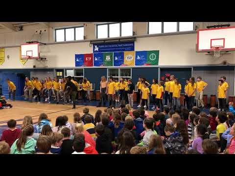 Mark Day School - 6th Grade South African Dance with Thando at All School Assembly 04-06-18