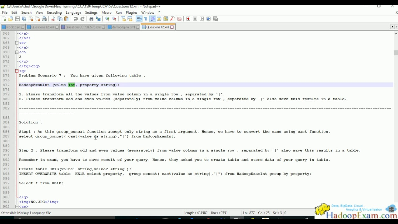 Cca159 Problem Scenario 7 Cloudera Big Data Analyst Certification