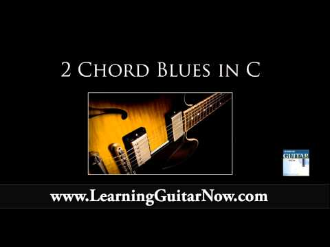 2 Chord Blues Backing Track in C