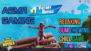 ASMR Gaming | Fortnite Chill Game With Relaxing Gum Chewing 🎮Controller Sounds + Whispering😴💤