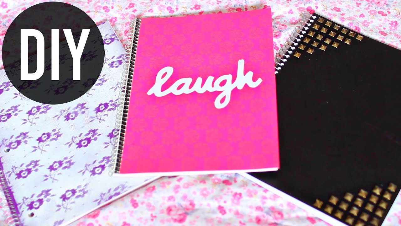 Diy notebooks for back to school easy diy school for Back to school notebook decoration ideas