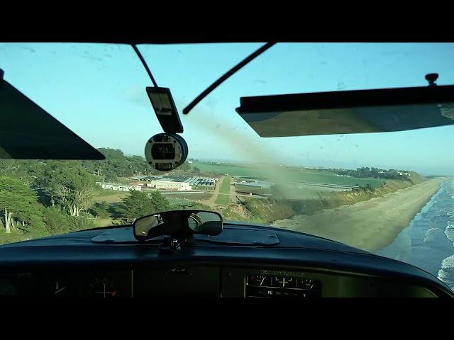 Landing at Monterey Bay Academy Airport, CA66, Runway 10