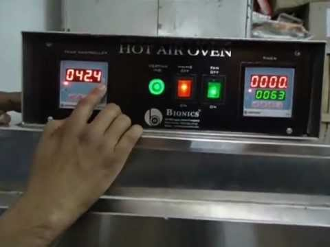 Hot Air Oven Working Video  YouTube