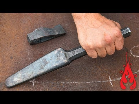 Blacksmithing - Forging an axe drift