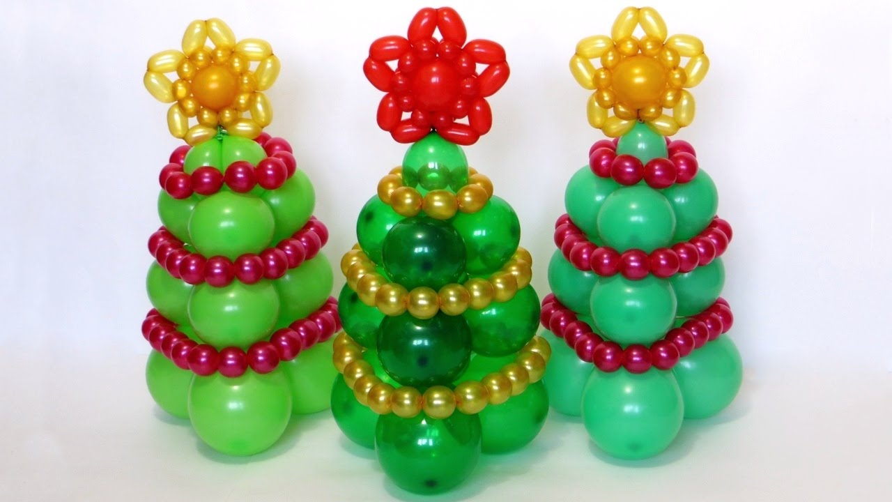 Christmas Tree Balloon.Christmas Tree Of Balloons Tutorial Subtitles