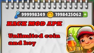 Subway Surfers hack mod apk - Unlimited coin and key