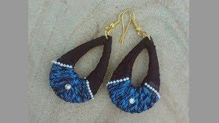 Silk Thread jhumka earrings/Silk Thread Chandbali fancy earrings/ jewellery making tutorial
