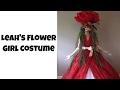 Flower Girl Costume: hoop skirt, petticoat, draped ball gown, and flower mask
