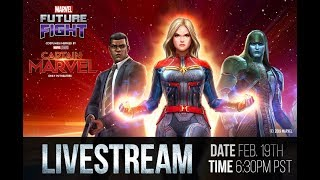 🔴 DEVELOPER STREAM | CAPTAIN MARVEL UPDATE - Marvel Future Fight
