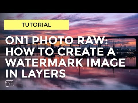 ON1 Tutorial -  How To Create A Watermark Image
