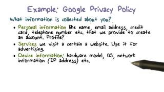 Example  Google Privacy Policy