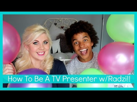 How To Be A TV Presenter w/ Radzi!!