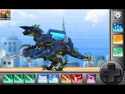 Мультик игра Роботы динозавры: Парейазавр-раптор (Parasauraptor Dino Robot)