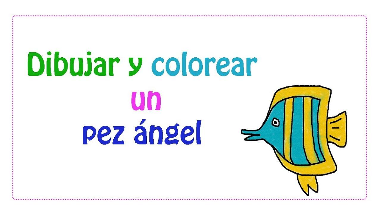 Dibujar y colorear un pez ángel - YouTube