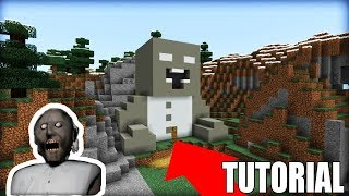 "Minecraft: How To Make a Granny Horror Hidden Base ""Granny Horror In Minecraft"""