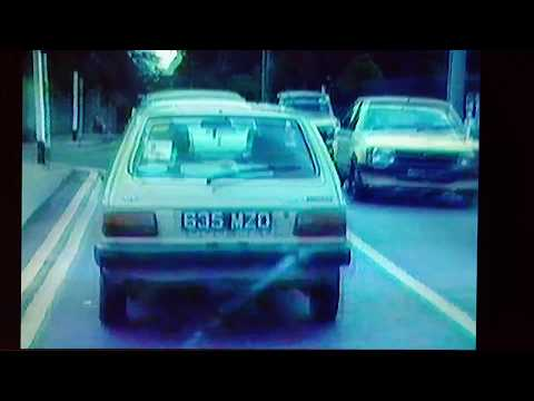 1986 Driving from Dunlaoghaire to Sallynoggin in Ireland