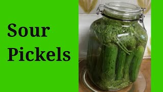 How To Ferment Cucumbers (DIY Sour Pickles ~Easy)