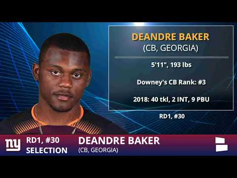 Giants Trade With Seahawks For Pick #30 And Pick CB DeAndre Baker From Georgia In 2019 NFL Draft