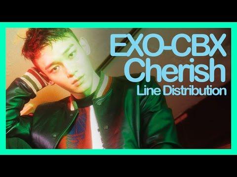 [Line Distribution] EXO-CBX - Cherish (Read description!!)