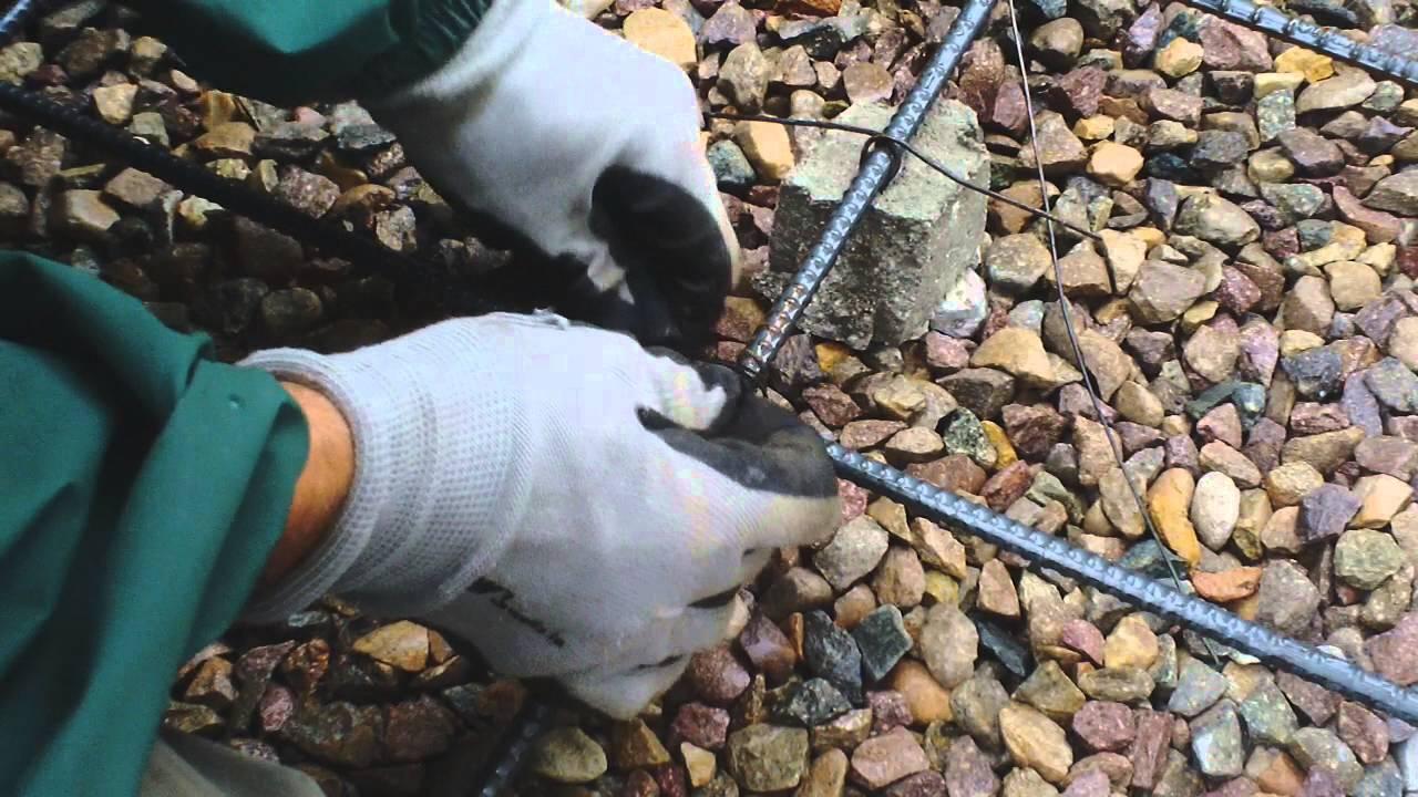 DIY Concrete Rebar Wire Tying - YouTube