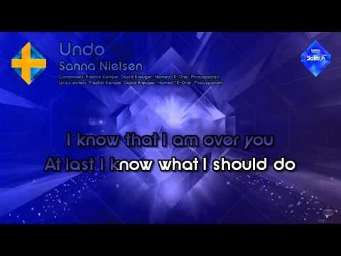 "Sanna Nielsen - ""Undo"" (Sweden) - Karaoke Style - [Pre-version]"