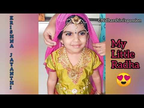 SIMPLE AND EASY RADHA MAKEUP TUTORIAL FOR KIDS|RADHA MAKEUP| KRISHNA JAYANTHI SPECIAL