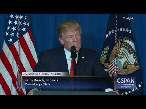President Trump statement on U.S. Missile Strikes in Syria (C-SPAN)