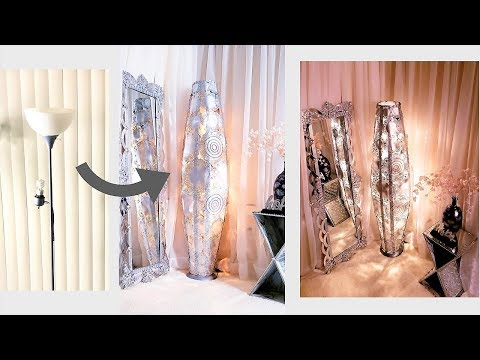 HOW TO TURN AN OLD LAMP INTO A SHOWROOM STYLE LIGHTING| DIY HOME DECOR IDEAS 2019