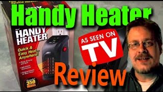 Handy Heater   Wall Outlet Space Heater Review   Does  t Work