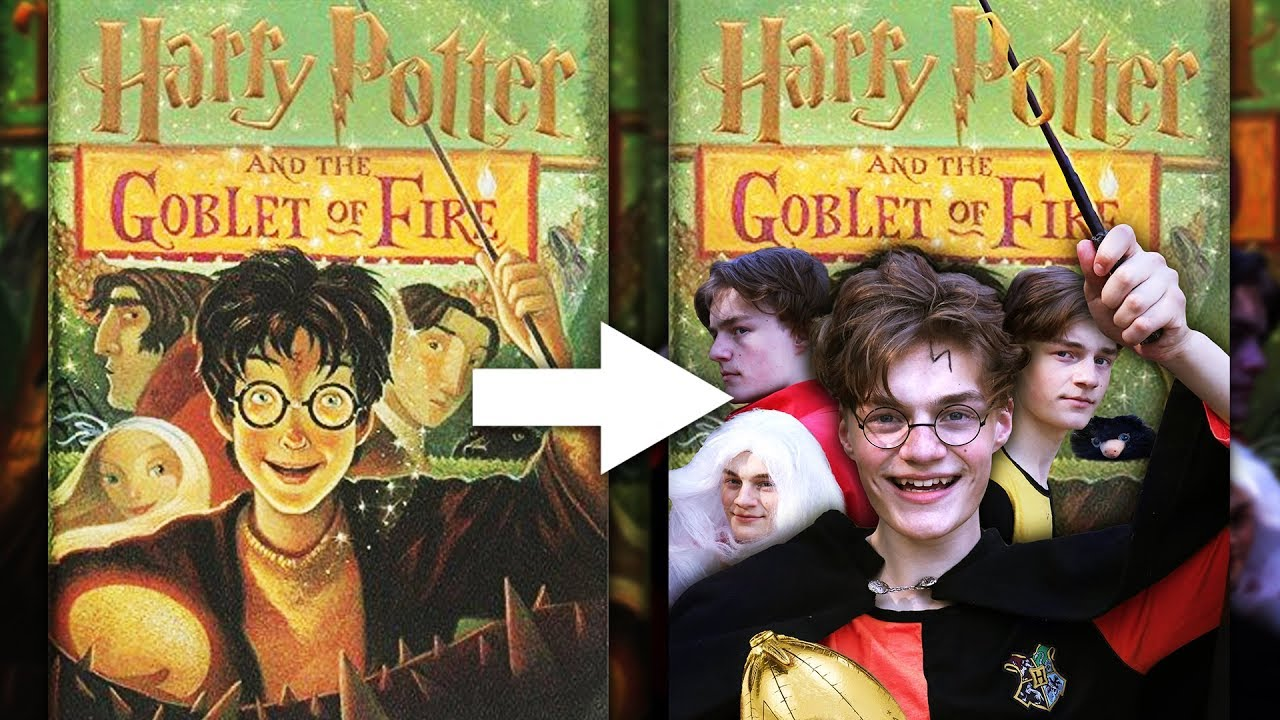 This is a picture of Striking Harry Potter Printable Book Covers