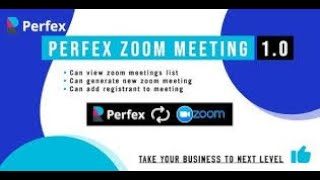 Zoom Meeting Manager for Perfex