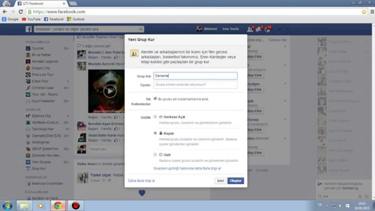 facebook grubu hacklemek