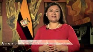 Saludo Asambleísta Dora Aguirrepor el día Internacional del Migrante