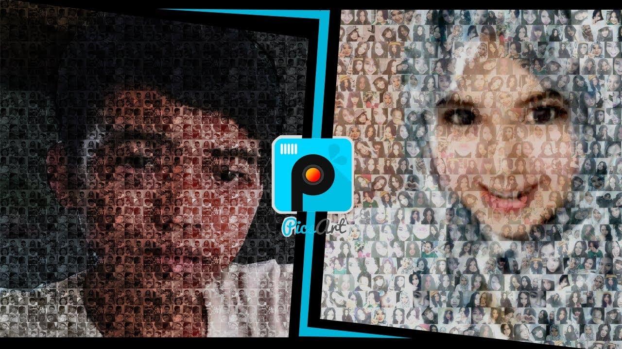 PICSART Cara Membuat Mozaik Foto Di Android