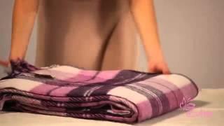 Купить плед шерстяной Эльф белый лиловый слива №2 обзор