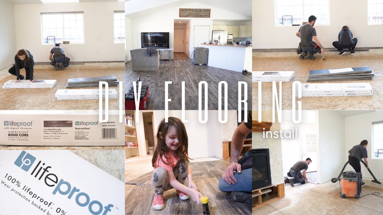 How to Install Vinyl Plank Flooring | Modern Farmhouse Fixer upper | Home Improvement