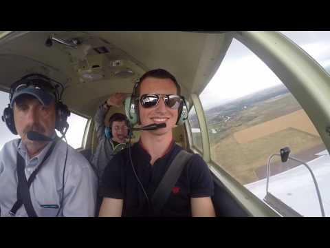 Piper 140 Flight over Great Falls, MT